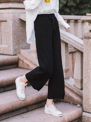 現貨/闊腿褲 DK尤物chic高腰闊腿褲女夏新款寬鬆顯瘦九分褲黑色垂感休閒褲100SP5RL/ 最低促銷價