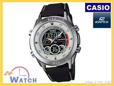 24-Watch《台灣卡西歐公司貨》【CASIO EDIFICE雙顯錶EFA-115L-1A7】全新商品 EFA-115 新北市