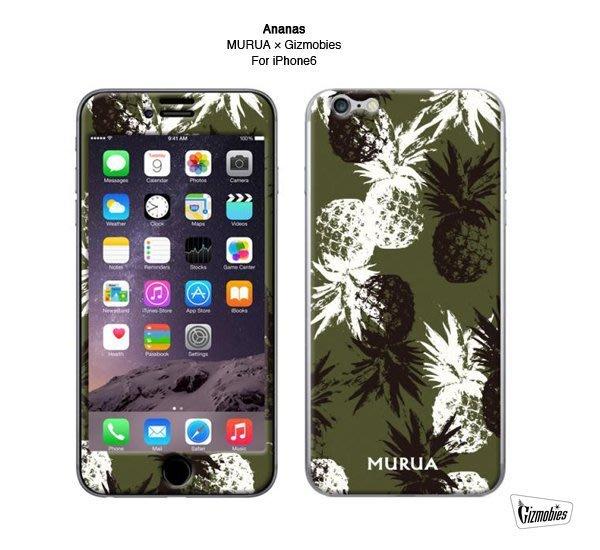 GOODFORIT / 日本Gizmobies x Murua Ananas鳳梨花卉主題 iPhone 6/6S保護貼