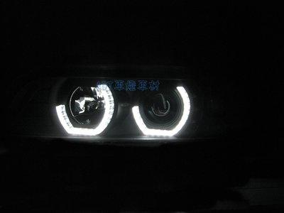 ~~ADT.車燈.車材~~BMW 5系 E39 95~02 類F10 LED導光 U型 光圈 LED方向燈大燈組