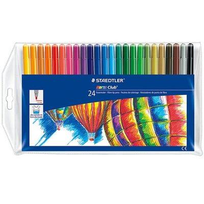 {阿治嬤} 德國 施德樓 STAEDTLER 快樂學園水易洗彩色筆24色組 MS325WP24