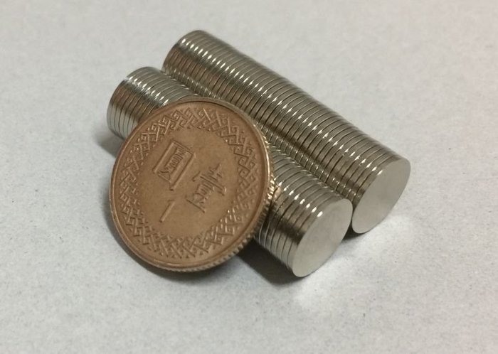 強力磁鐵 超強磁鐵圓形10mm*0.8mm - 適合用來做磁吸式卡片哦!