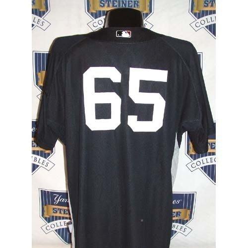 MLB NY YANKEES #65 PHIL HUGHES 2007 GAME USED ROAD BP 實戰球衣