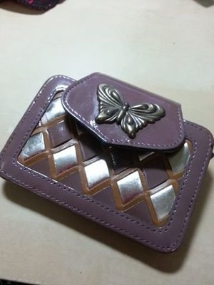 ANNA SUI菱格 卡夾 芋頭粉紫 超級美色 便宜賣 599元讓 可當名片夾 多用途 超低價轉讓 板橋可面交