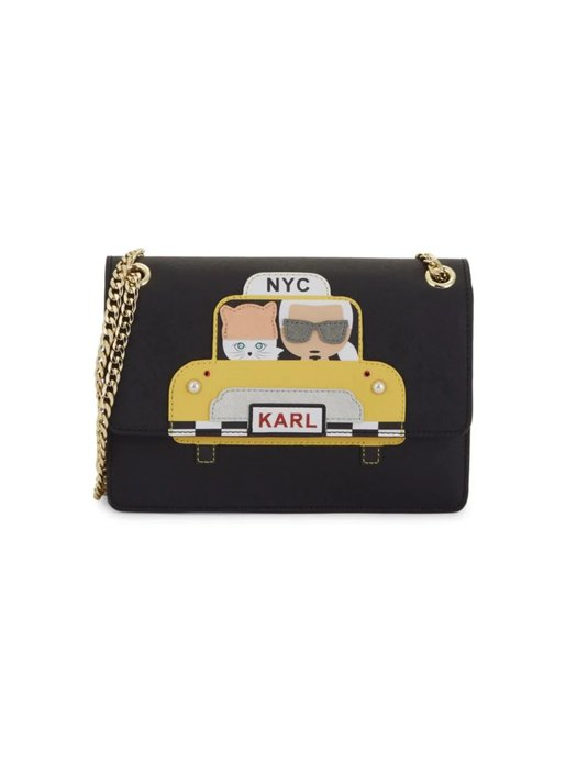 Coco小舖 Karl Lagerfeld Maybelle Faux Pearl Embellished Taxi