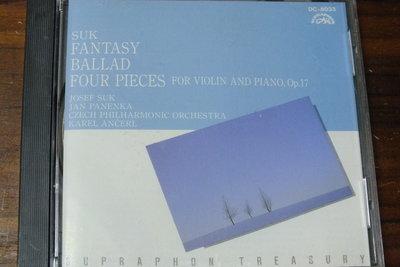 Supraphon-Suk-Fantasy in G Minor for Violin & Orchestra-日版