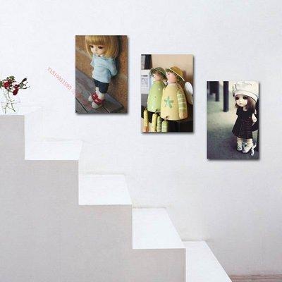 【50*70cm】【厚0.9cm】小女孩-無框畫裝飾畫版畫客廳現代簡約家居餐廳臥室【190117_413】