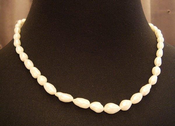 全新從未戴過典雅天然珍珠造型項鍊,賣場有四條同材質,編號 4 - 3!低價起標無底價!本商品免運費!