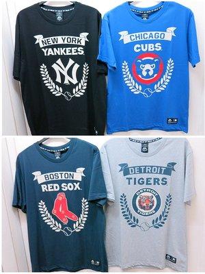 免運優惠.嘉義水上全宏 創信 MLB 2020 美國大聯盟 洋基-小熊-紅襪-老虎圖案純棉T恤.