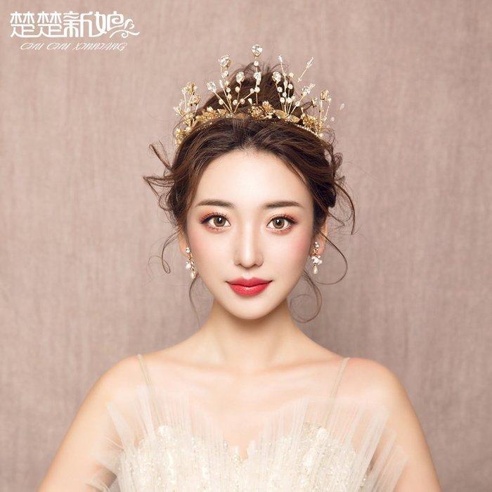 洛克小店新款結婚皇冠發飾頭飾公主發箍生日演出禮服配飾樹枝頭飾