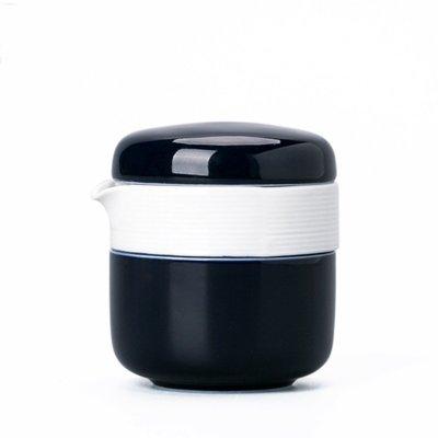 霽藍釉一壺二杯功夫茶具 便攜布袋裝快客杯旅行茶具套裝logo定制twm9
