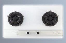 《櫻花》 G 2522 GW/ GB 爐頭防湯漏設計! (強化玻璃面) 檯面爐 另有G2522S 全平面髮絲紋不銹鋼面