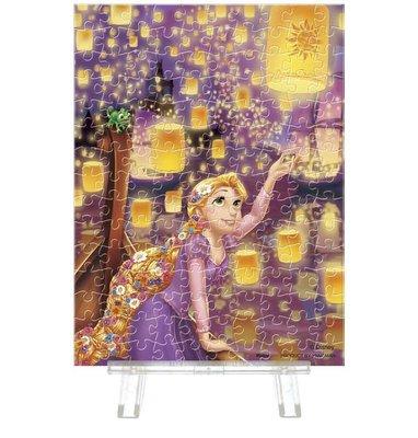 日本正版拼圖 迪士尼 長髮公主 Rapunzel 樂佩 魔髮奇緣 天燈 150片迷你透明塑膠拼圖 2308-05