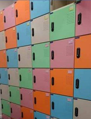 亞毅辦公家具 鋼製本體  ABS塑鋼門片 含鑰匙 附鎖 多功能組合式收納櫃 書包櫃  保險箱