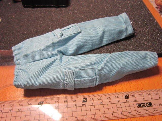 RJ3休閒部門 1/6淡藍色舊化軍裝工作褲一件 A1款