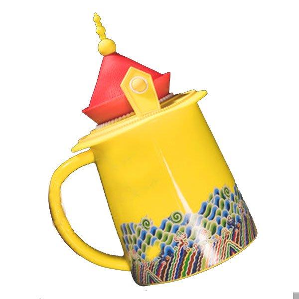 5Cgo【茗道】  中國風咖啡杯陶瓷杯茶杯龍鳳馬克杯子創意故宮皇上皇帝皇後杯帶蓋送禮自用龍袍杯573859465303