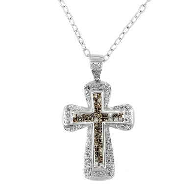 【JHT 金宏總珠寶/GIA鑽石專賣】1.20ct天然鑽石十字架造型項鍊/材質:18K(JB44-A20)