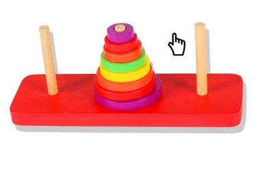 【晴晴百寶盒】寬式8入彩虹塔 疊疊樂積木啟蒙多彩彩虹 益智遊戲 套塔套環學習玩具 生日禮物禮品 早教 嚴選夯熱門A147