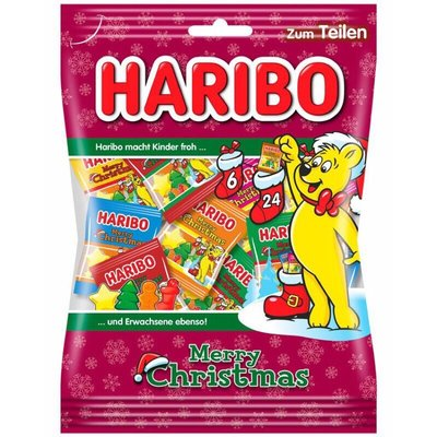 德國Haribo Christmas 聖誕迷你分享包 250 g (內含21包)