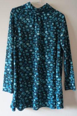 專櫃OIO黑底藍白花有領孕婦裝上衣  幾乎全新  二手熱銷榜