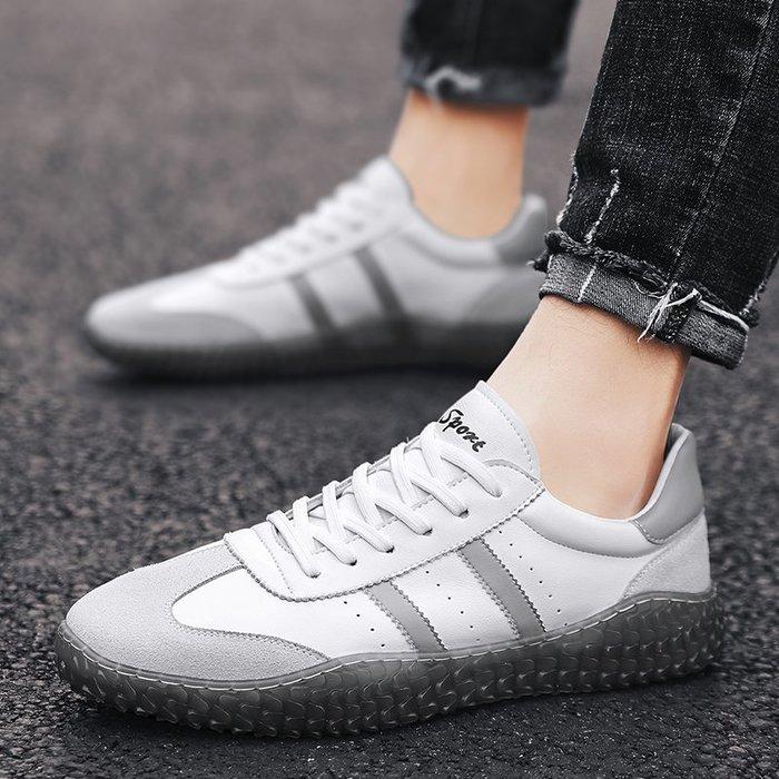 TIME&NES~小白鞋男鞋2020新款春季個性運動休閒鞋百搭潮流板鞋潮鞋夏季透氣