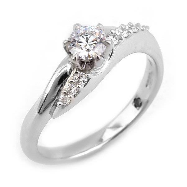 【JHT 金宏總珠寶/GIA鑽石專賣】0.267ct天然鑽石戒指/材質:PT950/(2549)