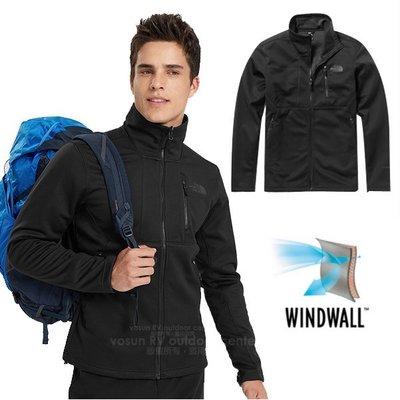 RV城市【美國 The North Face】送圍巾》WindWall 男款輕量防潑水保暖防風外套.抓絨襯裡_3VSF