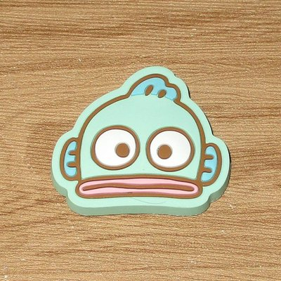 Sanrio 日本正版 Hangyodon 海怪 水怪 頭型 磁石 雪櫃磁貼
