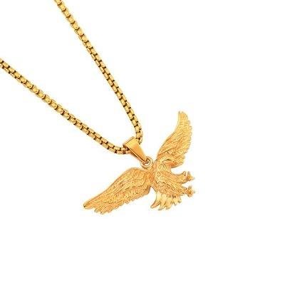 【Result】Eagle gold chain hiphop 老鷹 金項鍊 Tyga 頑童MJ116