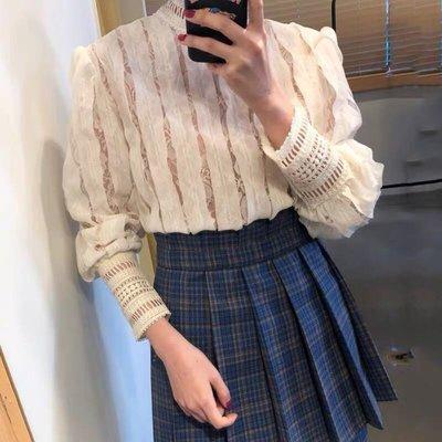 特價🚫韓國精緻蕾絲設計感長袖衣qwa011