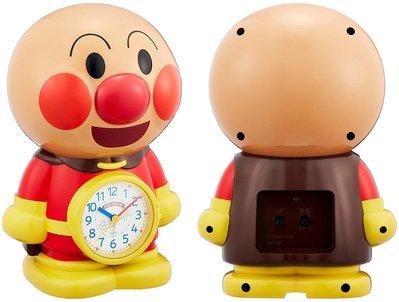 日本正版 Rhythm 麗聲 麵包超人 語音 鬧鐘 桌鐘 時鐘 4SE552-M06 日本代購