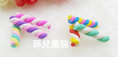 【菲兒♡童裝】827107 彩色棉花糖軟陶 樹脂貼飾 手機美容 髮飾貼片 貼飾  髮飾DIY 手作材料