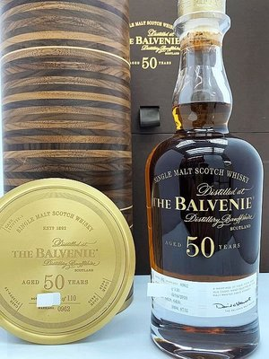 Balvenie 50 years Scotch Whisky 700ml 百富 50年威士忌 限量 110支 bottled in 2008