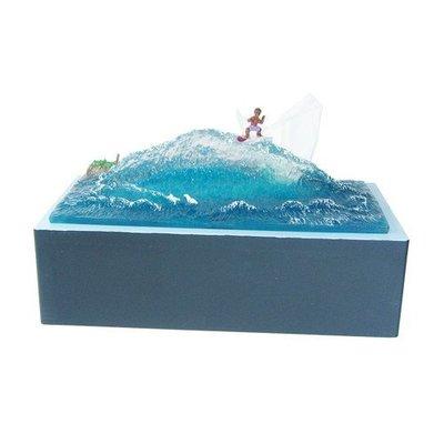 (I LOVE樂多)日本進口 衝浪衛生紙盒 裝置藝術 送人自用兩相宜