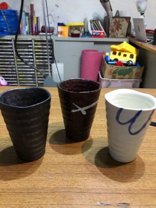 手拉陶杯 新的 高45mm 杯尺寸Dia 8cm