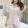 《HelloMiss》韓國 pink 春夏 仿真絲綢 純色 短袖 短褲 真絲 居家服  睡衣 套裝 白色 藍色 黑色