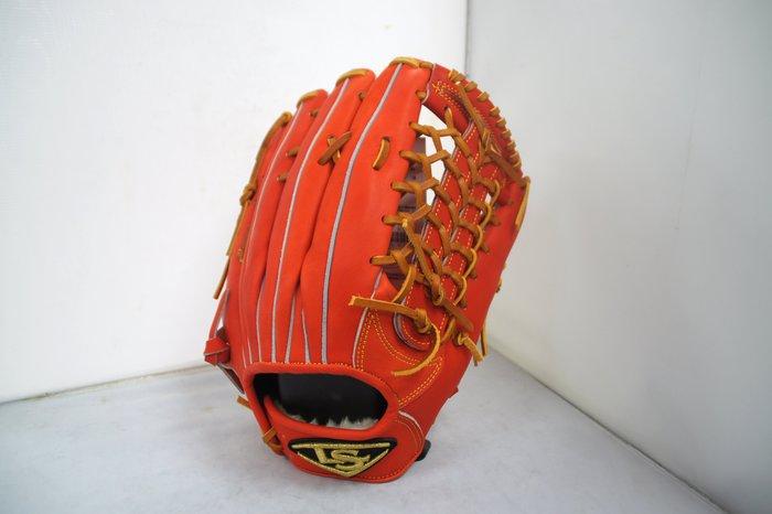 《星野球》Louisvelle Slugger 訂製版 棒壘球手套 日系紅 交叉T網型