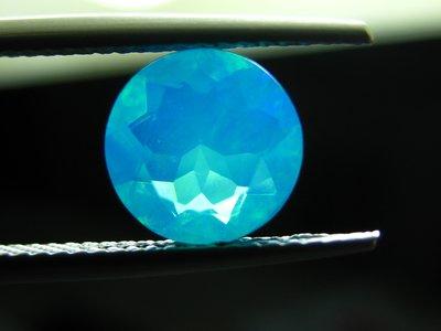 【Texture & Nobleness 低調與奢華】天然無處理 稀有罕見 巴西藍色蛋白石(藍色歐泊) - 1.48克拉