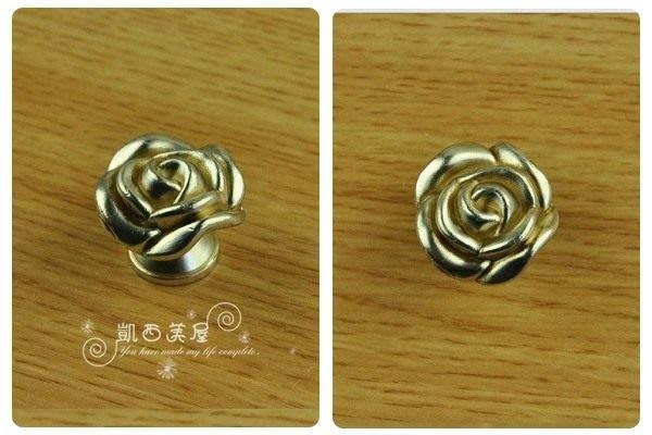 凱西美屋 新古典古銀玫瑰手把A款 玫瑰 單孔手把