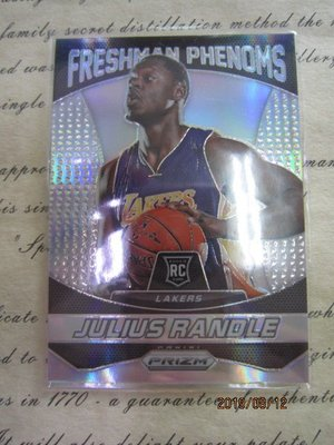 新賣家~14/15~Julius Randle~RC~PRIZM~SILVER~銀亮~FRESHMAN PHENOMS~