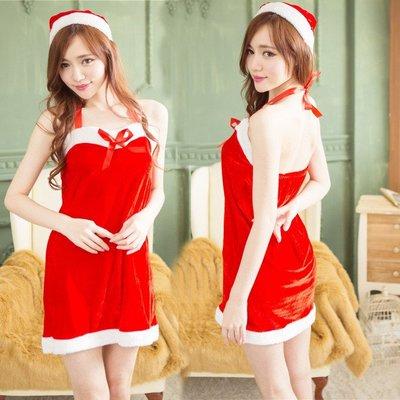 【臺灣發貨】聖誕老人服裝兩件套聖誕連衣裙性感內衣誘惑情趣內衣 D-L699