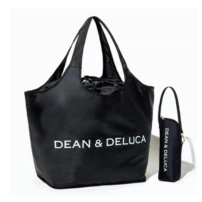 [瑞絲小舖]~日雜附錄DEAN&DELUCA束口收納袋&寶特瓶裝保冷袋(兩件套) 托特包 購物袋 環保袋 媽媽包 水壺套