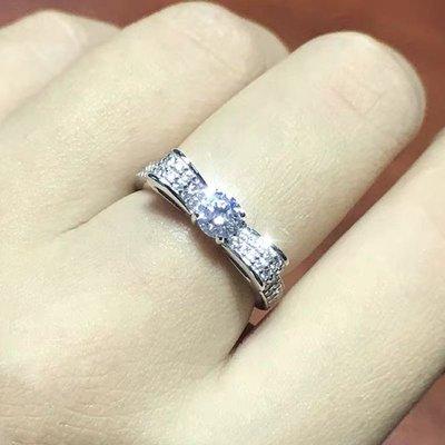 ✨?甜美蝴蝶結?14~18k金/鉑金10~30分各色天然鑽石線戒?戒身單排/雙排鑽?✨