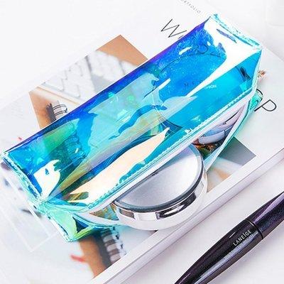 鐳射透明筆袋 零錢包 化妝包 小物收納 文具收納-艾發現
