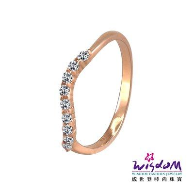 威世登時尚珠寶  飛舞玫瑰K金戒指(鑲風信子) KA00015-EHEX