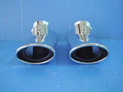 小亞車燈╠ 全新賓士BENZ W220 W211 W203 W208單出白金尾飾管 排氣管