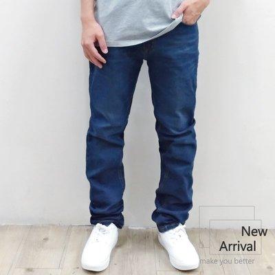『PINK服飾』28~36腰 台灣現貨 素面基本款 伸縮小直筒牛仔長褲 K6953