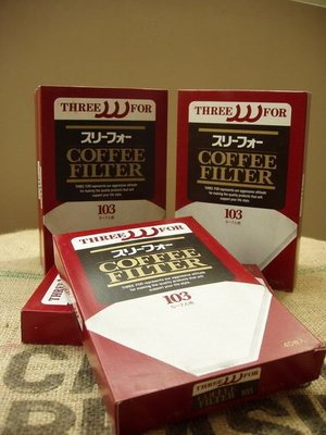 南美龐老爹咖啡 日本原裝 三洋產業 Three for 103濾紙[3~7人用]**特價出清 3盒100元