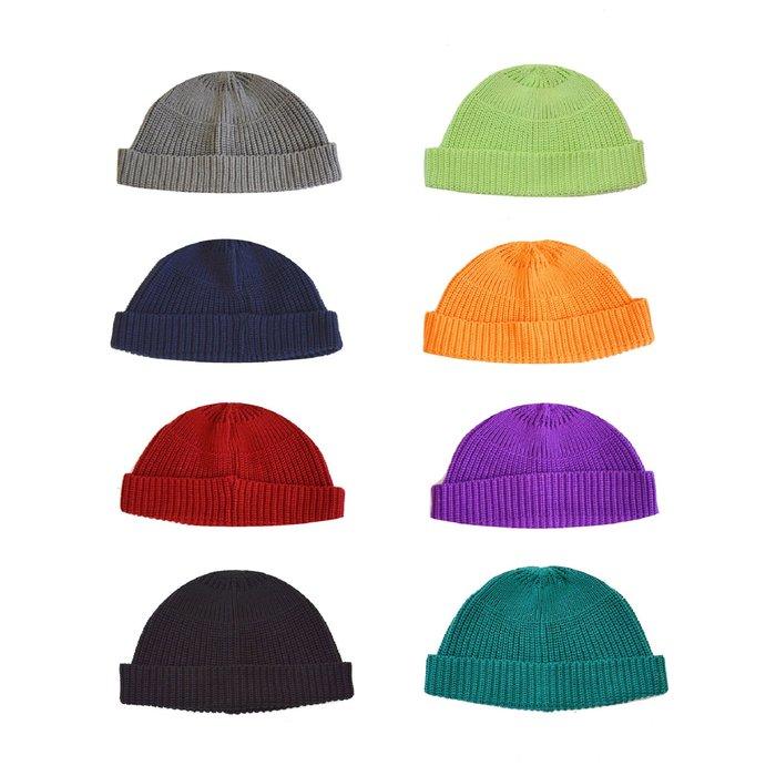 【 Wind 】 韓國製  八色  機能性  保暖  針織   短版毛帽  反折  多層次  現貨