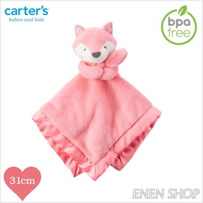 『Enen Shop』@Carters 桃粉狐狸款baby安撫毛巾 #67210|one size 新生兒/彌月禮